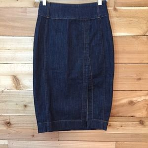 White House Black Market Jean Pencil Skirt *B494